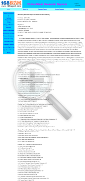 2010 Deep Research Report on China PV Glass Industry preview. Click for more details