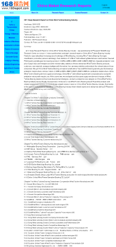 2011 Deep Research Report on China Wind Turbine Bearing Industry preview. Click for more details
