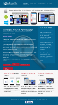 AdminZilla Network Administrator preview. Click for more details