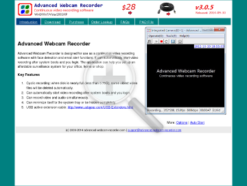Advanced Webcam Recorder preview. Click for more details