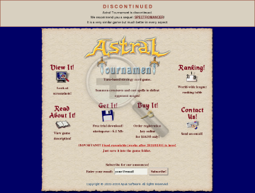 Astral Tournament preview. Click for more details