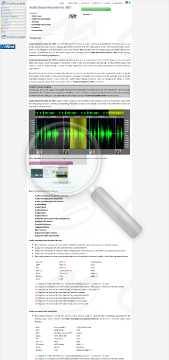 Audio Sound Recorder for NET preview. Click for more details