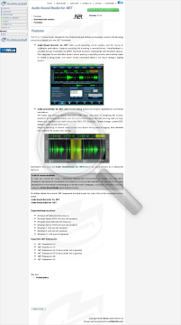 Audio Sound Studio for NET preview. Click for more details