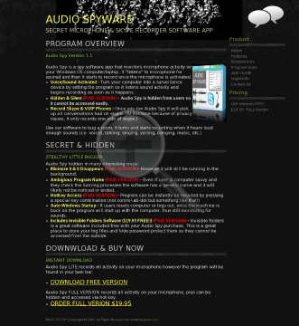 Audio Spyware preview. Click for more details