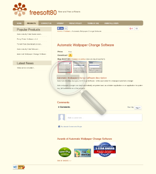 Automatic Wallpaper Change Software Sources preview. Click for more details