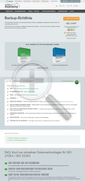 BackupRichtlinie ISO 27001 preview. Click for more details