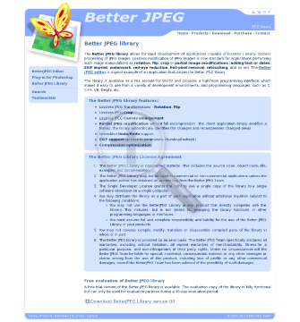 Better JPEG Library preview. Click for more details