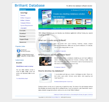 Brilliant Database Professional preview. Click for more details
