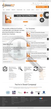 Business Continuity Planning Templates Express BCP preview. Click for more details