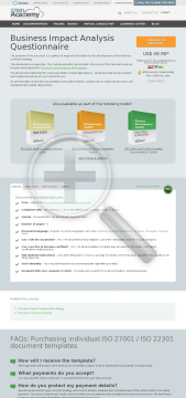 Business Impact Analysis Questionnaire ISO 22301 preview. Click for more details