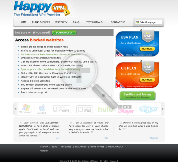 Canadian Happy VPN preview. Click for more details