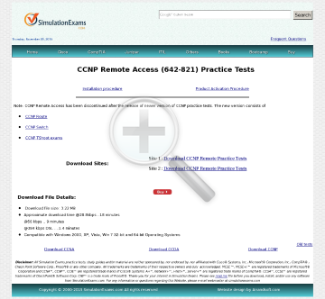 CCNP Remote Access BCRAN Practice Tests preview. Click for more details