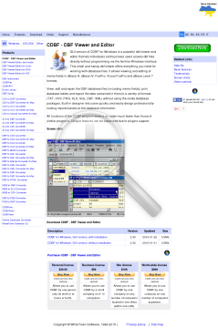 CDBF for Windows GUI version preview. Click for more details