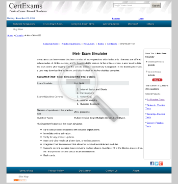CE iNet Practice Exams Online preview. Click for more details