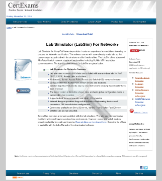 CE Network Lab Simulator preview. Click for more details