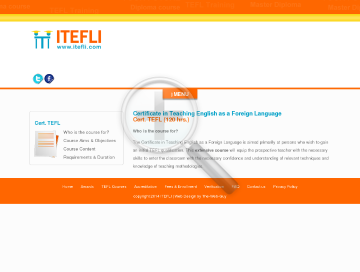 Certificate in TEFL 120 hrs preview. Click for more details