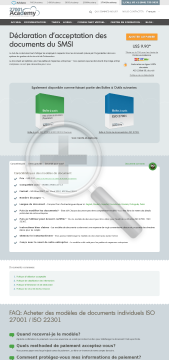 claration acceptation des documents du SMSI ISO 27001 preview. Click for more details