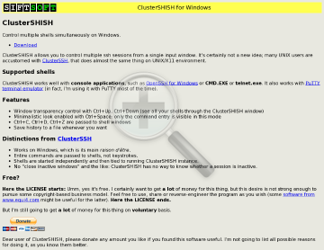 ClusterSHISH preview. Click for more details