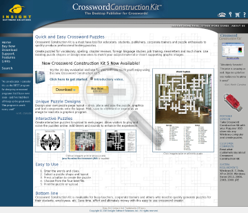 Crossword Construction Kit Portable preview. Click for more details
