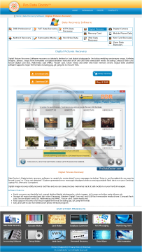 Digital Pictures Recovery Software preview. Click for more details
