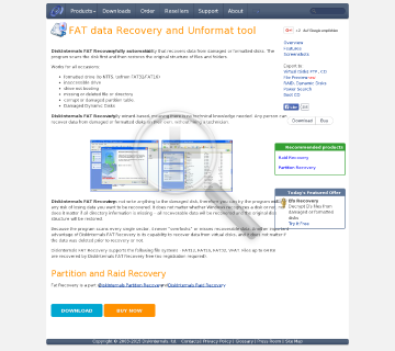 DiskInternals FAT Recovery preview. Click for more details