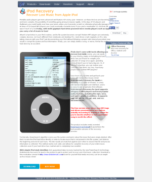 DiskInternals Recovery for Ipod preview. Click for more details