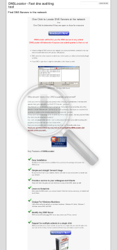 DNSLocator preview. Click for more details