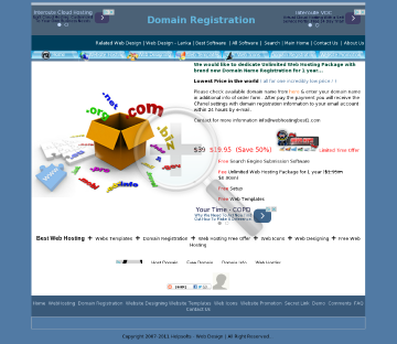 Domain Registration preview. Click for more details
