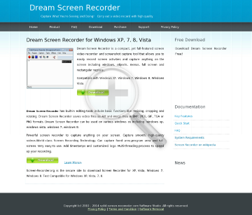 Dream Screen Recorder preview. Click for more details