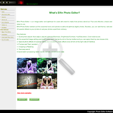 Elfin Photo Editor preview. Click for more details