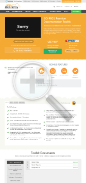 ISO 9001 Premium Documentation Toolkit English preview. Click for more details