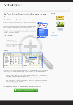 Max Folder Secure preview. Click for more details