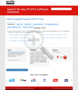 PCVITA Express Migrator for Google Apps Outlook preview. Click for more details