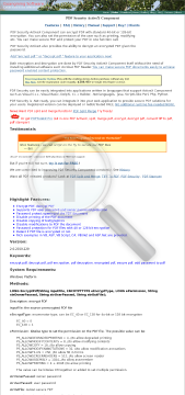 PDF Security preview. Click for more details