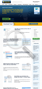 QuickFile PRO for Outlook preview. Click for more details