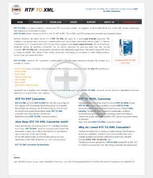 RTF TO XML preview. Click for more details