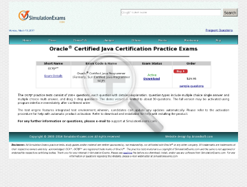 Sim Oracle OCPJP Java Programer Practice Tests preview. Click for more details