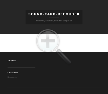 Sound Card Recorder preview. Click for more details