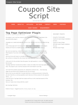 Tag Page Optimizer Plugin preview. Click for more details