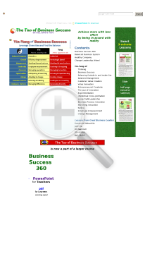 The Tao of Business Success preview. Click for more details