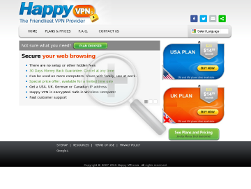 UK Happy VPN preview. Click for more details