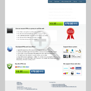 Unlimited VPN Service preview. Click for more details