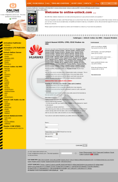 Unlock Huawei HSDPA GPRS EDGE Modem via IMEI preview. Click for more details