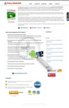VeryAndroid File Protector preview. Click for more details
