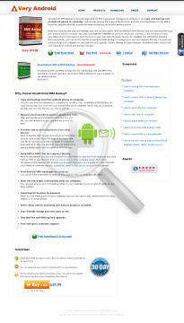 VeryAndroid SMS Backup preview. Click for more details