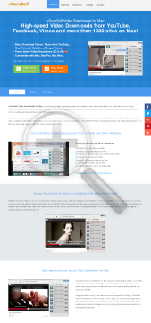 vGuruSoft Video Downloader for Mac preview. Click for more details