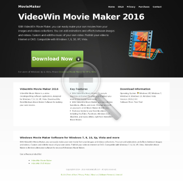 VideoWin Movie Creator preview. Click for more details