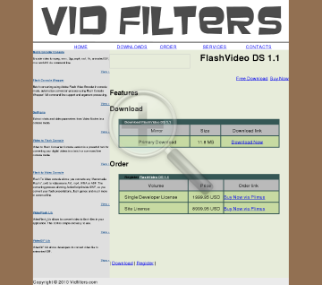 VidFilters FlashVideo DS preview. Click for more details