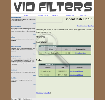 VidFilters VideoFlash Lib preview. Click for more details