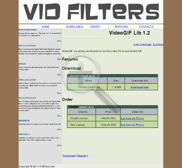 VidFilters VideoGIF Lib preview. Click for more details